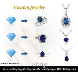 10.87 Carats Natural Unheated Blue SapphireLoose GemstoneNew Sri Lanka
