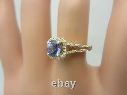 14K Yellow Gold 0.50 Carat Tanzanite and Diamond Ring 0.75 CT TW Engagement