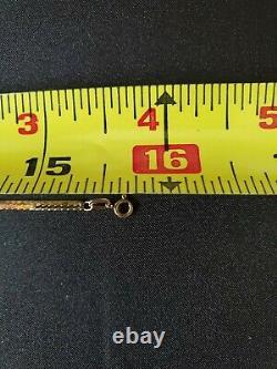 14 Karat Gold Italian Multi 5 Blue Sapphire Herringbone Necklace Pendant