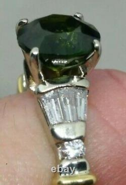 14k 2.75 CARATS COMBINED NATURAL UNTREATED DIAMOND & SAPPHIRE RING SZ 6.5
