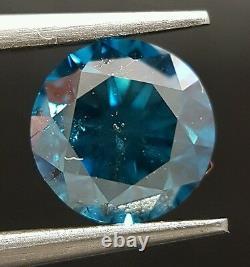 1.36 Carat Fancy Blue Color Enhanced Diamond Loose Huge Gorgeous For Ring ASAAR