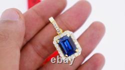 1.50 Carat Diamonds & 15 Ct December Blue Gemstone Pendant Charm ASAAR Video