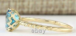 1.50 Carat Natural Topaz 14K Yellow Gold Promise Ring