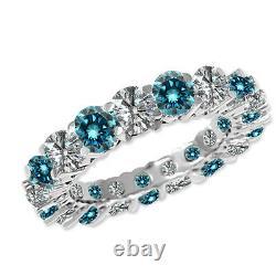 2.25 Carat Blue G-H SI2 Round Diamond Solitaire Anniversary Ring 14K White Gold
