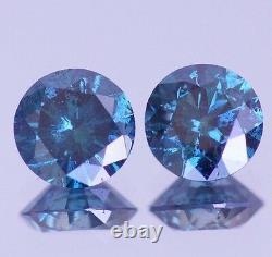 3.00 Carat Fancy Blue Diamond Loose Huge PAIR for Earrings Best Deal Ebay Beauty