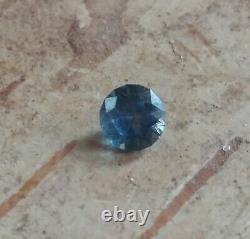47 carat loose Montana Sapphire. Mined & cut in AMERICA. Medium Blue. Round cut