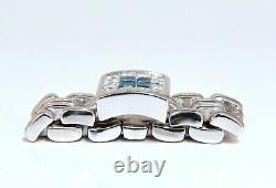 70ct Princess Cut Blue Diamonds Panther Link Ring Flexible 14 Karat