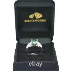 Blue Diamond Band Ring 3 Carat. Earth mined. Certified. Great Luster