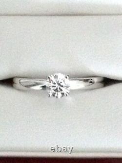 Blue Nile Certified 14k white gold diamond engagement ring. 5 carat S12/D