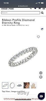 Blue Nile Classic 6-prong Solitaire Diamond Ring 2.50 carat + Eternity Ring 1 Ct