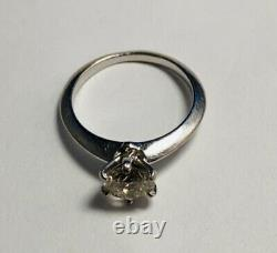 Blue Nile GIA Diamond Engagement Ring 14-Karat White Gold VS2, J, Round 1.06CT