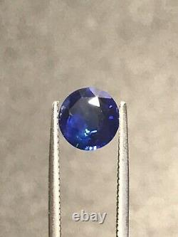 Blue Sapphire Natural 1.13 Carat Round Gem Genuine Loose Gemstone 6.42mm Ceylon