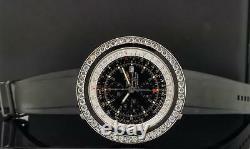 Breitling Navitimer World Stainless Steel 5.50 Carat Diamond Bezel Ref. A24322