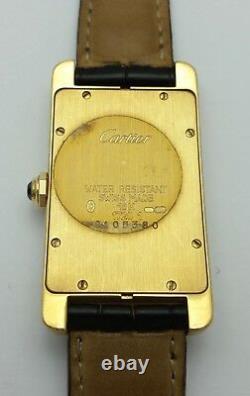 Cartier Tank Americaine 1720 18K Karat Yellow Gold & Diamond Watch