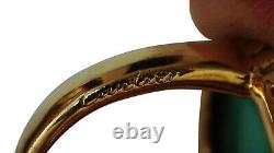 Cartier Turquoise Diamond Ring In 18 Karat Yellow Gold- Look! Vintage