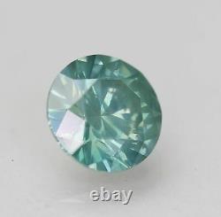 Cert 1.20 Carat Blue Green VS2 Round Brilliant Enhanced Natural Diamond 6.91mm