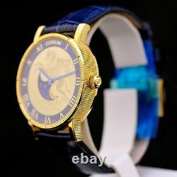 Corum Lunar Pegasus Limited Edition 499 Pieces 18 Carats Gold 1 9/16in New Box &