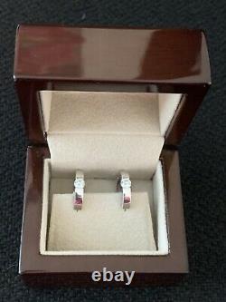 Diamond Earrings from Blue Nile TCW. 48 carats Hoop Design 18K
