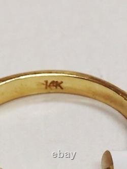 Estate 14K Karat Yellow Gold Natural SAPPHIRE & DIAMOND RING 0.82 Carat 2.5 Grm