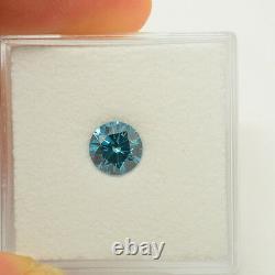 Fancy Vivid Blue Color Round Natural Loose Diamonds 0.94cts Carat VS1