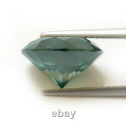 Fancy Vivid Greenish Blue Color Round Natural Loose Diamond 6.58 TCW Carat I1