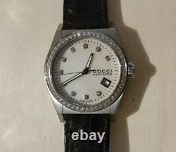 Gucci 115.4 Pantheon VVS clarity G color. 71 carat diamond watch