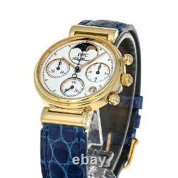 IWC IW3735 DaVinci 18 Karat Yellow Gold Quartz Chronograph 3735 Ladies Watch