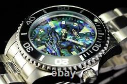 Invicta Men 47mm GRAND PRO DIVER 0.03 CARAT DIAMONDS Abalone Dial SS Watch