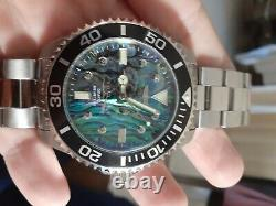 Invicta pro diver watch. 03 carat diamonds. Abalone dial. New
