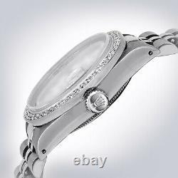 Ladies Rainbow Pearl Diamond Rolex 26mm Small 1.20 Carat Jubilee Datejust Watch