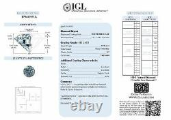 Loose Blue Diamond Fancy Round Shape 1.54 Carat Natural Enhanced SI2 Certified