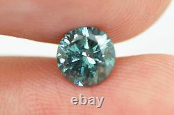 Loose Blue Diamond Natural Enhanced Round Shape Fancy SI2 Certified 0.70 Carat