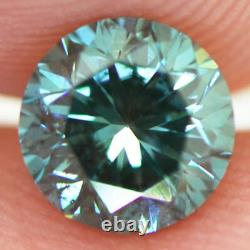 Loose Blue Diamond Round Shape Fancy Color Real Certified 0.80 Carat SI2 Enhance
