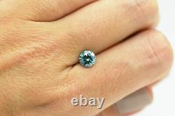 Loose Blue Diamond Round Shaped Fancy Color 1 Carat SI1 Real Natural Enhanced