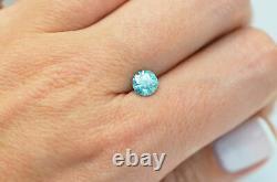 Loose Round Cut Diamond Fancy Blue 0.96 Carat Enhanced Earth Mined VS2 Certified