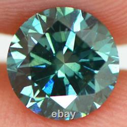 Loose Round Shape Diamond Fancy Blue Color Certified Enhanced 1.17 Carat VS1