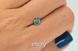 Loose Round Shape Diamond Fancy Blue Color Enhanced 0.68 Carat VS2 Certified
