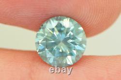 Loose Round Shape Diamond Fancy Blue Color VS2 Certified Enhanced 2.03 Carat