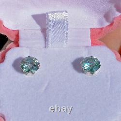 Lovely 2.50 Carat DEW Maui Estate Stud Earrings 100% Genuine Blue Moissanites