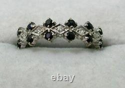 Lovely 9 carat Gold Sapphire And Diamond Ring Size K. 1/2