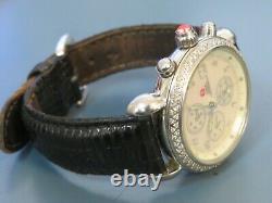MICHELE CSX. 60 Carat Diamond Chrono Watch with Leather Band 71-4000/5000