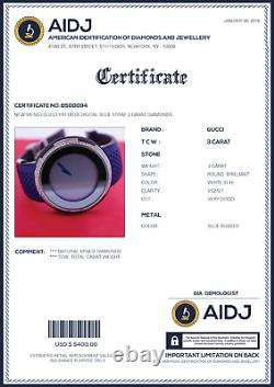 Mens I-Gucci YA114105 Digital Blue Strap 3 Carat Diamonds BEST Price ASAAR