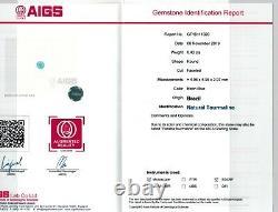 Natural Brazilian Paraiba Tourmaline 0.43 carats with AIGS Report