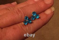 Neon Apatite 10K Yellow Gold Earrings 2.20 Carats