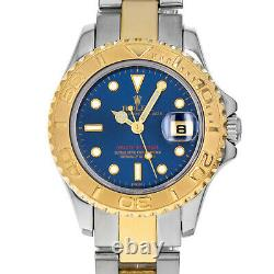 Rolex 169623 U Yacht-Master Box & Papers Blue Dial Steel 18 Karat Yellow Gold
