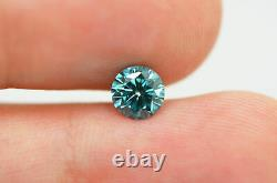 Round Shape Diamond Loose Fancy Blue Color 0.81 Carat VS1 Natural Enhanced Real