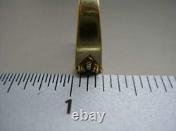 Size 6 Ladies Dark Blue Sapphire Wide 14 Karat Yellow Gold Band Ring