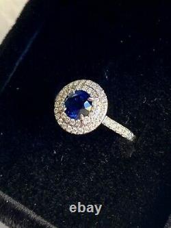 Tiffany & Co. Soleste. 45 carat Sapphire and Diamond Ring size 4