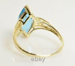 Topaz Ring in 10k Yellow Gold 3.29 Carats Size 7.5