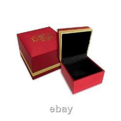 VVS1 E 2.05 Carat Natural White Blue Diamond 14K Rose Gold Eternity Ring RS 5.5